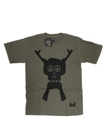 Stussy x Futura Skullacons Medium Dark Grey Tee Limited Edition 1901657
