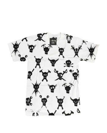 Stussy x Futura Skullacons Print White Tee Limited Edition 1901658