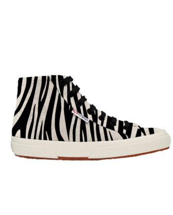 Superga Fanvelvetw Zebra Black-Beige 2795 S00FUY0