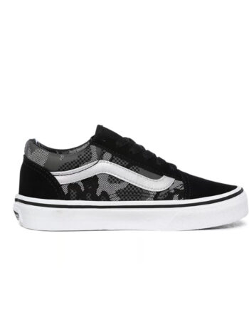 Vans Patrern Camo Old Skool Black/True White - Kids VN0A4BUU0GS1