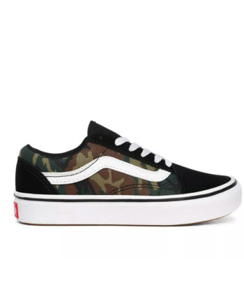 Vans Woodland Camo Comfycush Old Skool Black/True White - Kids VN0A4U1Q0JR1