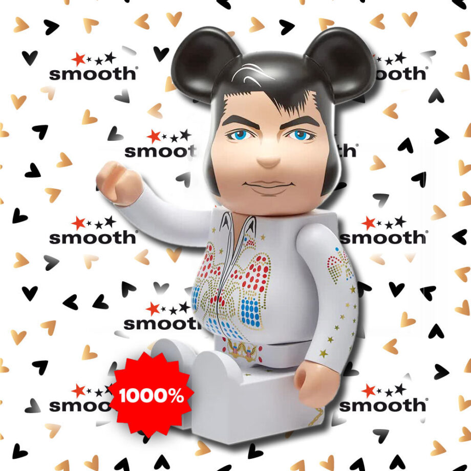 Medicom Toy Elvis Presley Eagle studded white jumpsuit Bearbrick 1000%
