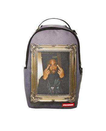 Sprayground Backpack Tupac Golden Grey 910B2779NSZ
