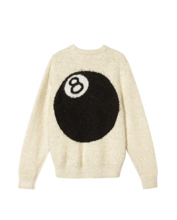 Stussy 8 Ball Heavy Brushed Mohair Sweater Cream 117078