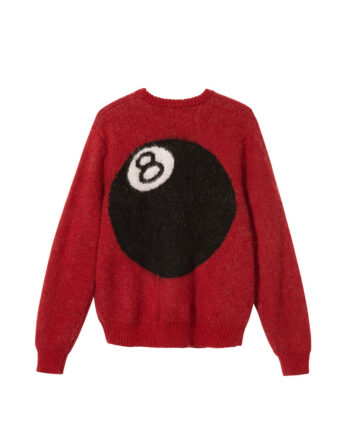 Stussy 8 Ball Heavy Brushed Mohair Sweater Red 117078