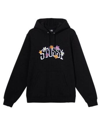 Stussy Collegiate Floral Hoodie Black 118392