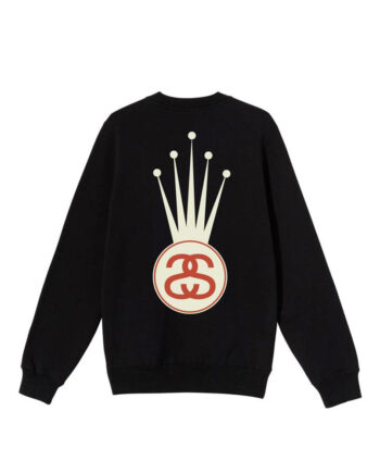 Stussy Crown Link Crew Sweater BLack 1914569