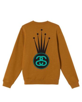 Stussy Crown Link Crew Sweater Caramel 1914569