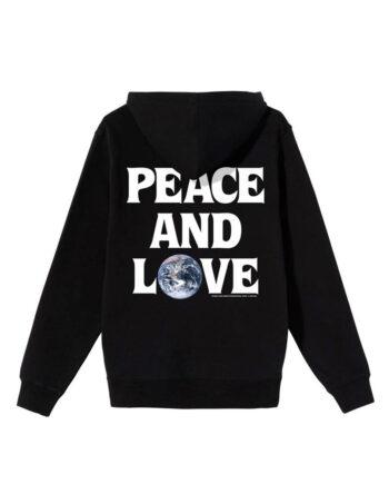Stussy Peace & Love Hood Black 1924600