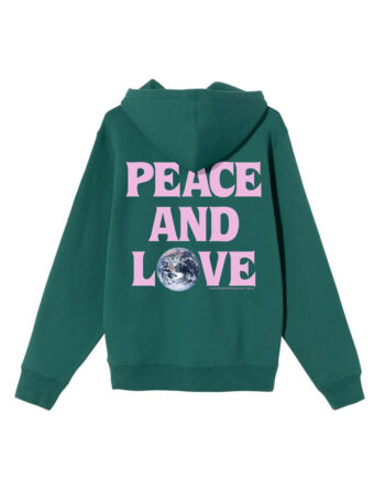 Stussy Peace & Love Hood Dark Green 1924600
