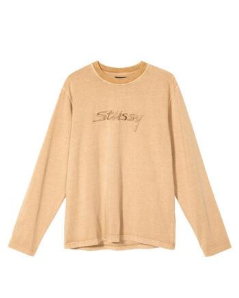 Stussy River L/SL Crew Shirt Khaki 1140217