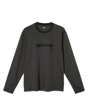 Stussy River L/SL Crew Shirt Black 1140217
