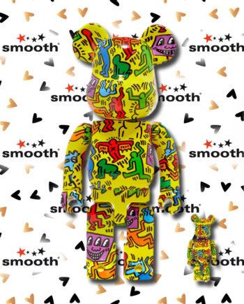 Medicom Toy Keith Haring #5 Bearbrick Set 100% 400% Limited Edition