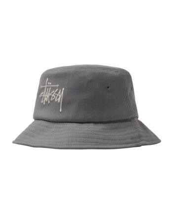 Stussy Big Logo Twill Bucket Hat Grey 1321010