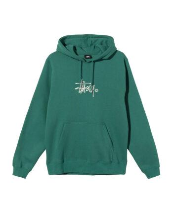 Stussy Copyright Stock Embroidered Hoodie Dark Green 118407