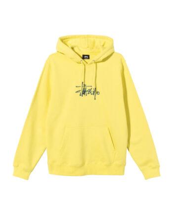 Stussy Copyright Stock Embroidered Hoodie Lemon 118407