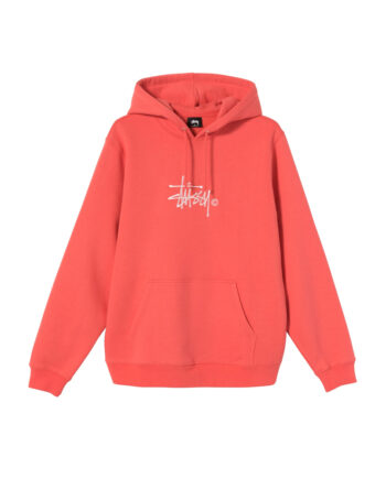 Stussy Copyright Stock Embroidered Hoodie Pale Red 118407