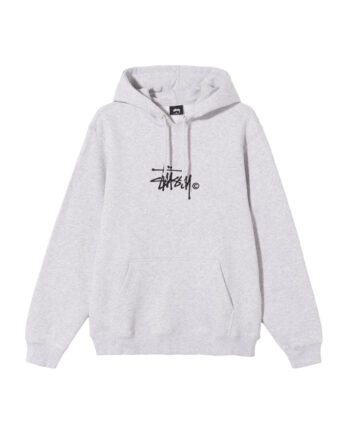 Stussy Copyright Stock Hoodie Embroidered Ash Heather 118407