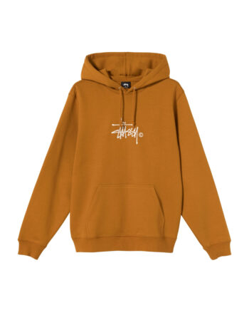 Stussy Copyright Stock Embroidered Hoodie Caramel 118407
