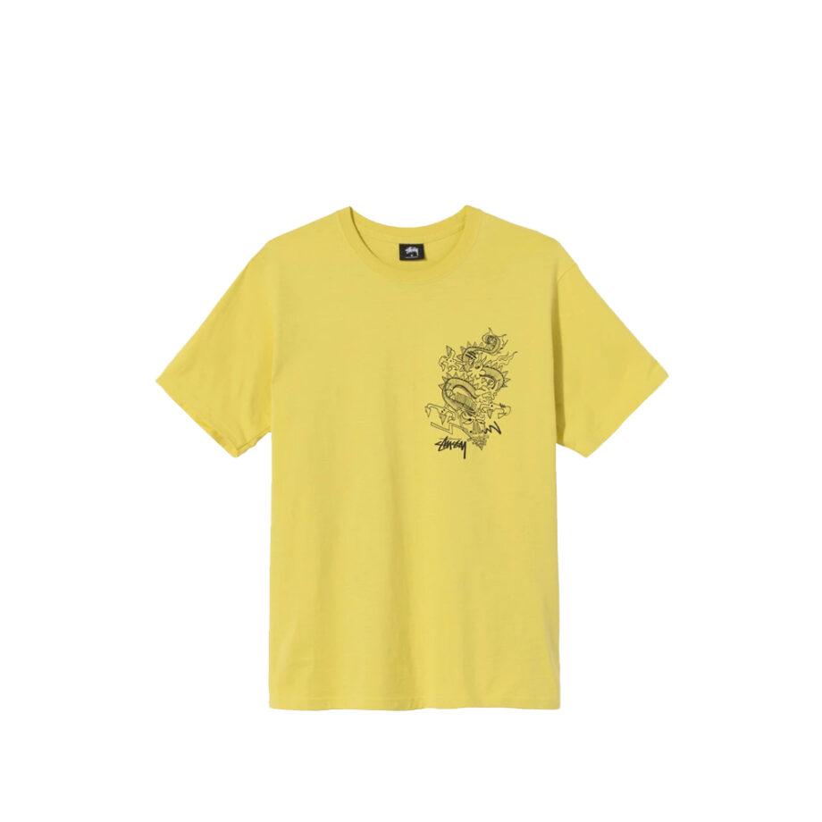 Stussy Funky Tribe Tee Lemon 1904620