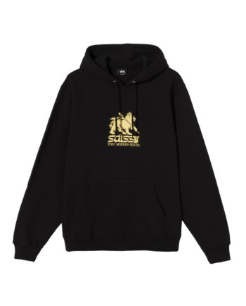 Stussy Lion Hoodie Black 118404