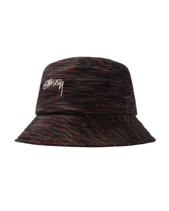 Stussy Multi Color Knit Bucket Hat Black 1321013