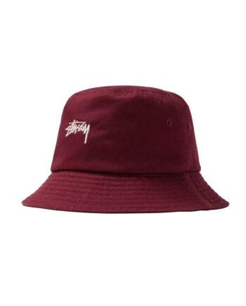 Stussy Stock Bucket Hat Burgundy 1321015