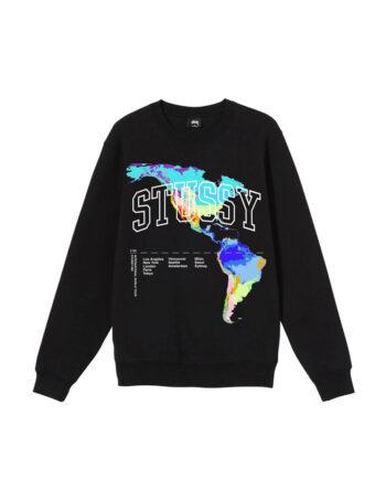 Stussy Thermal Crew Sweatshirt Black 1914630
