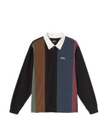 Stussy Vert Stripe Ls Rugby Black 1140228