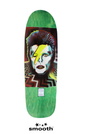 "Jason Adams x Jason Lee David Bowie Green Skateboard Deck 9.5"""
