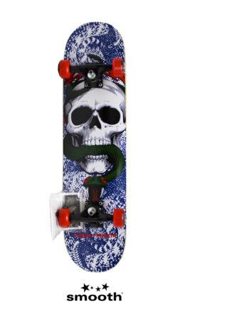 """Powell Peralta Skull & Snake Complete Skateboard Blue/White 842357155350 - 7.75"""""""