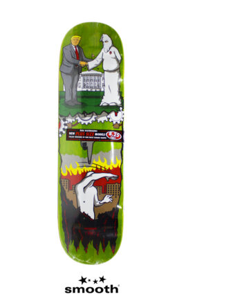 """Real Skateboards X Jim Thiebaud - Wrench Justice - Donald Trump Skateboard Deck Multicolor - 8.25"""""""