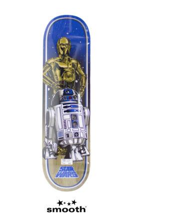 "Santa Cruz Star Wars Droids Skateboard Deck Blue/Grey 11113381-67217 8.375"""