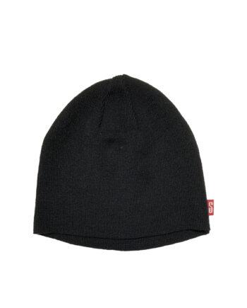Stussy Beanie Thin Knit Hat Black FEST032871