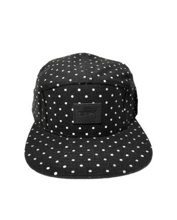 Stussy Flannel Dot Camp Cap Black 132605