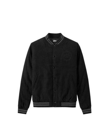 Stussy Stock Varsity Jacket Black 115300
