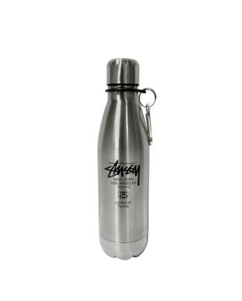Stussy World Tour Water Bottle Silver 138391