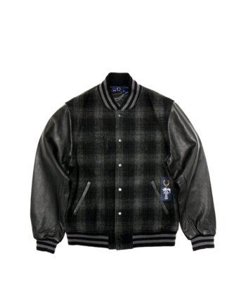 Stussy x Fred Perry Varsity Jacket Black