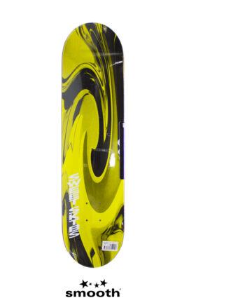 "Sweet Sktbs Swirl Yellow Skateboard Deck Yellow & Black 7332846354157 - 7.75"""