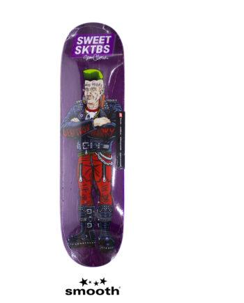 """Sweet Sktbs x Sean Cliver Euro Trash Skateboard Deck Purple 7332846379303- 8.0"""""""