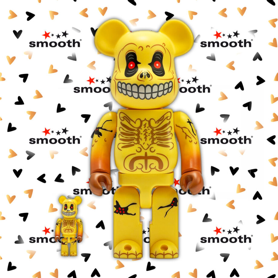 Medicom Toy Skull Face Bearbrick Set 100% 400%