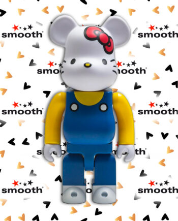 Medicom Toy Hello Kitty Blue Overall Bearbrick 400% Nyabrick Figure