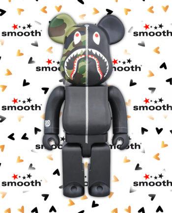Medicom Toy x A Bathing Ape Play 1ST Camo Shark Bearbrick 400%