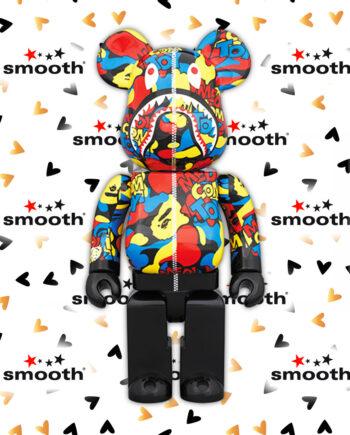 Medicom Toy x A Bathing Ape Bape Camo Shark Multicolor Be@rbrick 400%