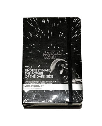 """Moleskine x Star Wars Limited Edition Notebook 192 Pages """"The Dark Side"""" Black"""