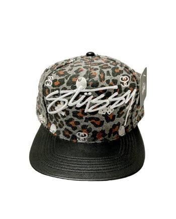 Stussy Leopard Logo Cap Black 232041