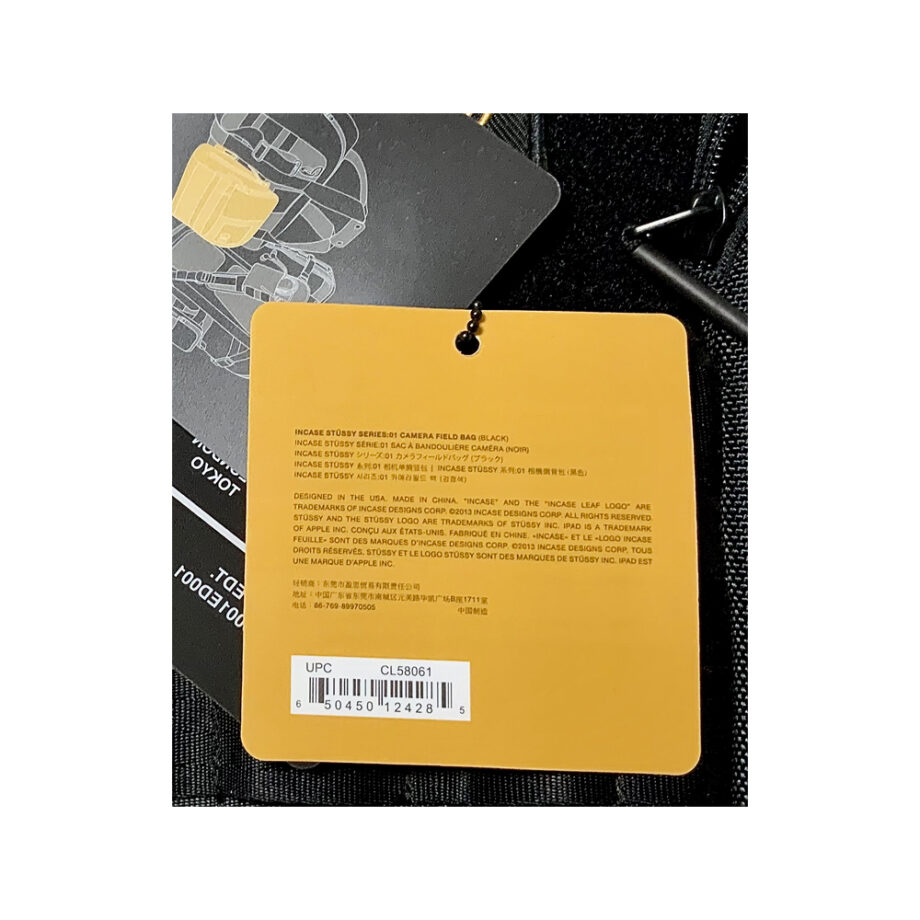 Stussy x Incase Camera Field Bag Series 01 Black CL58061