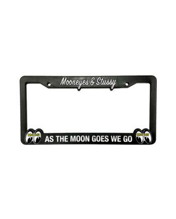 Stussy x Mooneyes License Plate Fram Black 338118