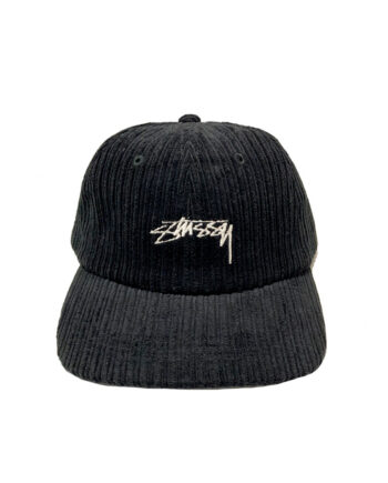 Stussy Ho19 Cord Low Pro Cap Black 131919