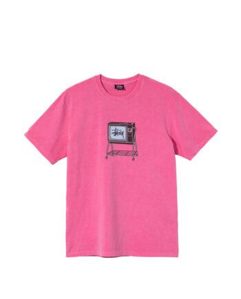 Stussy Rolling Tv Pigment Dyed Tee Pink 1904672